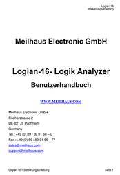 Meilhaus Electronic Logian-16 Logic-Analyzer, Logic analyzer Logian-16 Data Sheet