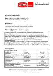 Crc 29009-AB Chain spray 200 ml 29009-AB Information Guide