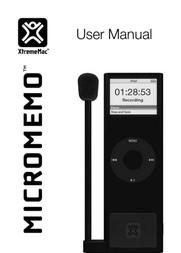 XtremeMac MicroMemo Voice Rec.Blk For nano 2G IPN-MIC-02 User Manual