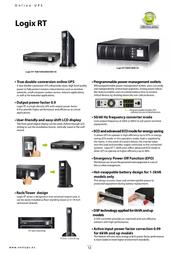 NEXT UPS Systems Logix RT EXB 3000 77118 Leaflet
