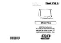 Salora CT1435TDVX TV/DVD CT1435TDVX User Manual