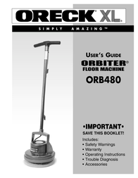 Oreck ORBITER ORB480 User Manual