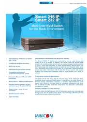 Minicom Advanced Systems Smart 216 IP 0SU70036 Leaflet