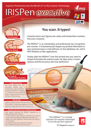 I.R.I.S. IRISPen Executive, UK HIPEX3TPAUK500 Leaflet