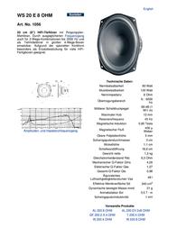 Visaton VS-WS20E/8 1056 Data Sheet