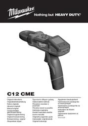 Milwaukee C12 CME-0 Digital-Multimeter, DMM, 4933 416981 User Manual