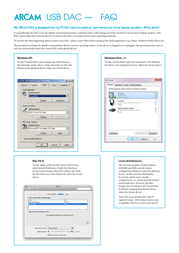 Arcam USB DAC 23425 User Manual
