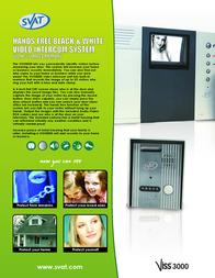 Svat Handsfree Video Intercom System VISS3000 Leaflet