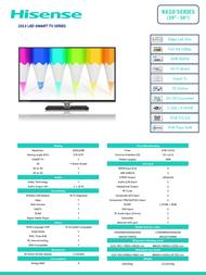 Hisense K610 LTDN39K610XWSEU3D Leaflet