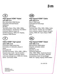 Speaka Professional SPEAKA HS HDMI-KABEL MIT LED 3 M 448433 Information Guide