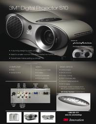 3M Multimedia Projector S10 MMMS10 Leaflet