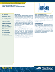 Allied Telesis ACC: A NIC  PCI 10MBPS AT-2400BT Leaflet