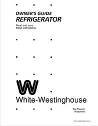 White Westinghouse Top Freezer User Manual