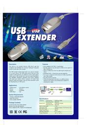 Intronics CAT5 USB 1.1 Extender SB2060 Leaflet