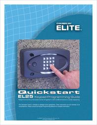 Chamberlain ELITE EL25 User Manual