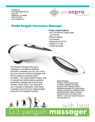 Prospera Penguin Percussion PL008 Leaflet