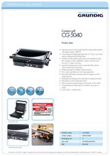 Grundig CG 5040 CG5040 Leaflet