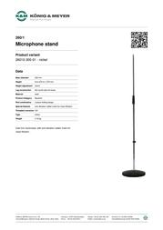 König & Meyer 260/1 26010-300-01 Leaflet