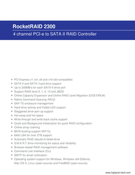 Highpoint RocketRAID 2300 RR2300 Leaflet