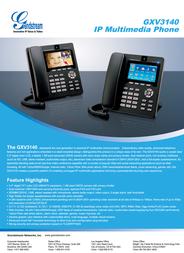 Grandstream Networks GXV3140 Leaflet