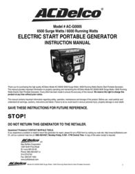 ACDelco AC-G0005 User Manual