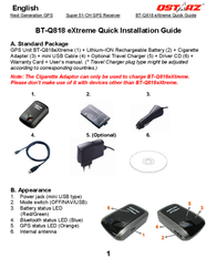 Qstarz bt-q818 extreme Installation Instruction