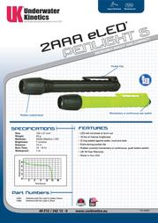 Underwater Kinetics UK2AAA eLED Pen Light S 13303 Leaflet