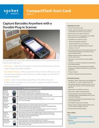 Socket Mobile CFSC 5P IS5026-610 Leaflet