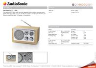 AudioSonic RD-1540 Leaflet