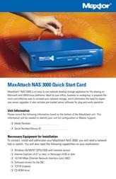 Maxtor MaxAttach NAS 3000 Leaflet