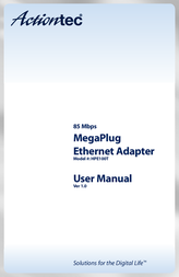 Actiontec HLE08500 PowerLine Ethernet Adapter HLE08500-01 User Manual
