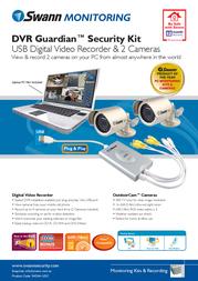 Swann DVR Guardian Security Kit - USB Digital Video Recorder and 2 x O SW244-UDC Leaflet