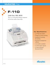Muratec f-110 Leaflet