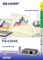 Sharp PG-C20XE User Manual
