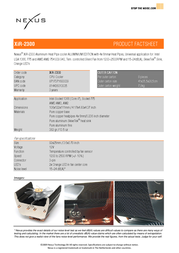 Nexus XiR-2300   Socket 1366/775/AM3/AM2   Aluminum Edition XIR-2300 Leaflet