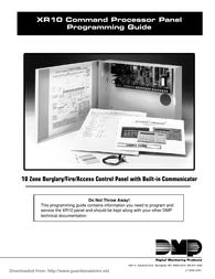 DMP Electronics Command Processor Panel User Manual