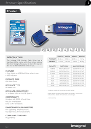 Integral 2GB USB 2.0 Courier Flash Drive INFD2GBCOU Leaflet