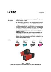 Lytro M01-100007-EU 데이터 시트