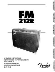 Fender 212R User Manual