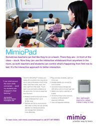 Sanford MimioPad USB Cable 1755776 Leaflet