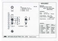 Miyama Pushbutton switch 125 Vac 3 A 1 x On/On DS-409 latch 1 pc(s) DS-409, RD Data Sheet