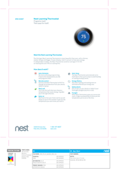 Nest T3007ES Specification Sheet