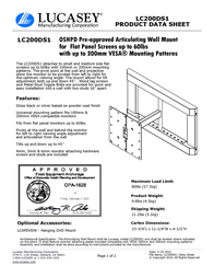Lucasey LC200DS1 Product Datasheet