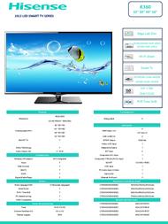 Hisense K360 LTDN40K360WSGEU Leaflet