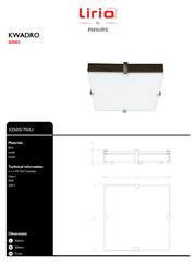 Lirio by Philips KWADRO 32505/70/LI Leaflet
