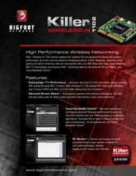Bigfoot Networks Killer Wireless-N 1102 Leaflet