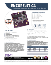 Sonnet Encore ST G4 800MHz 1MB 2.2V SG4-800-2M Leaflet