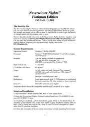 Atari neverwinter nights platinum edition Installation Instruction