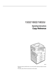 Savin 1502 User Manual