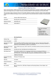 Amacom External Blu-Ray Slimline Drive AMA-BYBLU-EU Leaflet